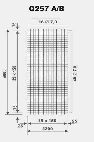 Baustahlmatte q257